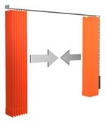 Lamellenvorhang - 2 Pakete außen