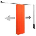 Lamellenvorhang - Paket mittig