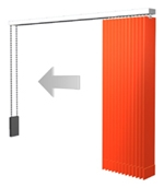 Lamellenvorhang - Paket rechts
