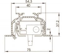 Einbauprofil der Lamellenschiene
