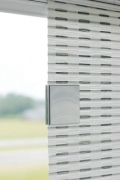 Magnetclip Bedienung Flächenvorhang - alu hell