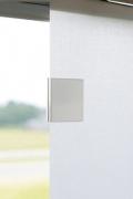 Magnetclip Bedienung Flächenvorhang - alu weiß