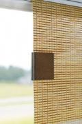 Magnetclip Bedienung Flächenvorhang - holz wallnuss