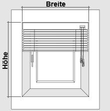Jalousien messen und montage f r fenster und fensternische for Fenster messen