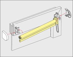 Turbo Rollo Montage - Montageanleitung mit Klemmträger ohne bohren oder SR26