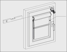 Relativ Rollo Montage - Montageanleitung mit Klemmträger ohne bohren oder BD23