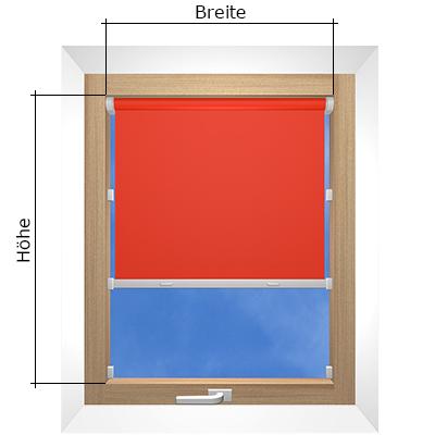 Rollo messen f r montage in fenster fensternische und for Fenster messen